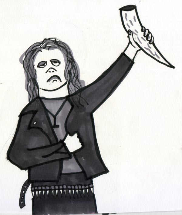 Troo Black Metal Cartoons by Kurt Midness